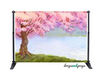 Watercolor Cherry Tree – Photography Backdrop