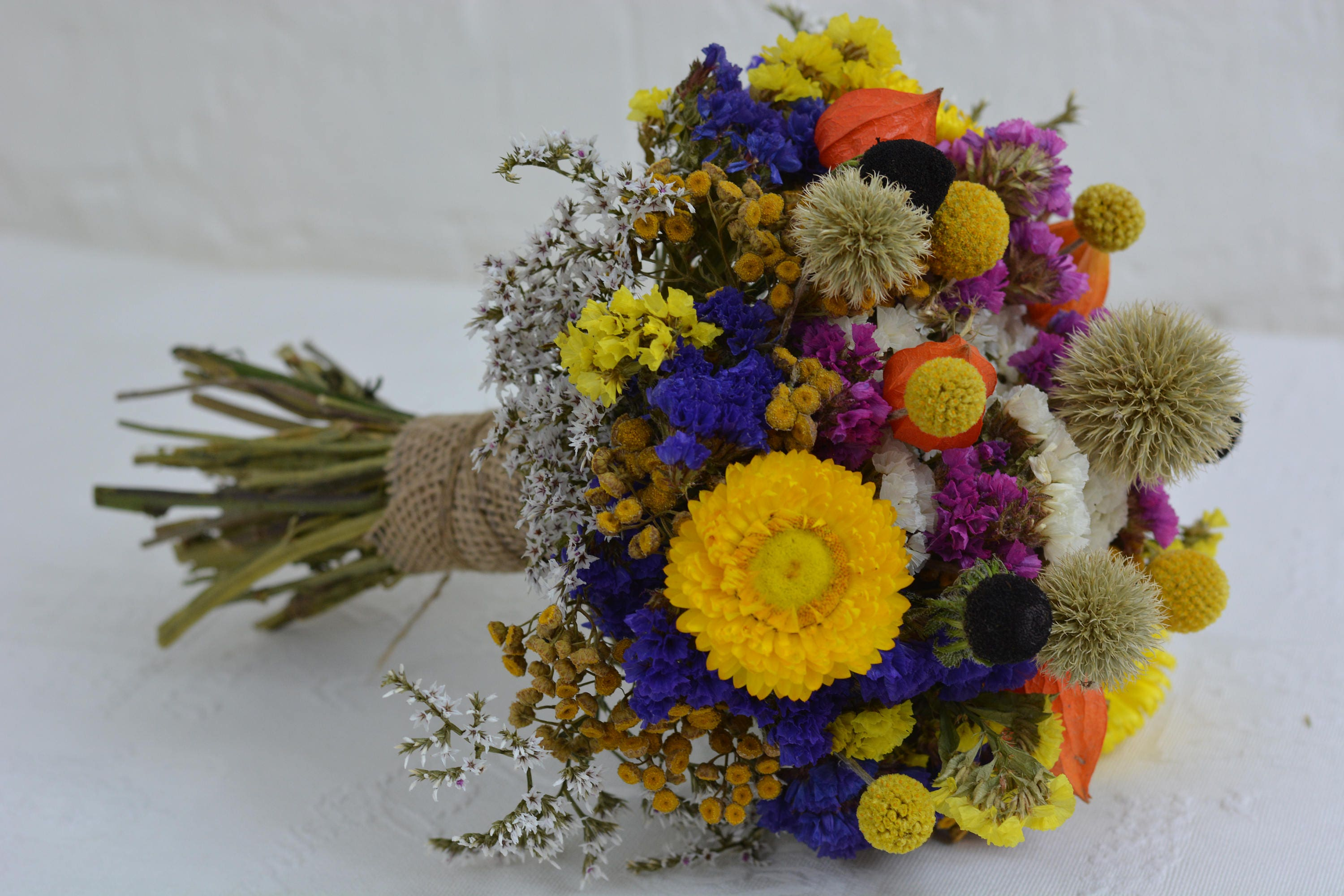 Dried flower bouquet dried flowers fall colors wedding flowers rustic flower bouquet natural flower decor rustic wedding decor sold by gardeniemagic izmirmasajfo