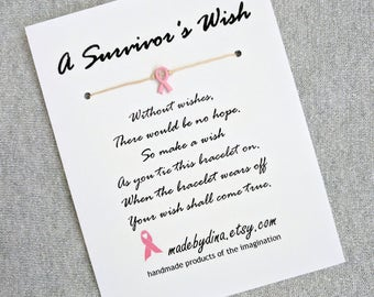 Reserved for Vicki. 7 LIMITED EDITION Pink Ribbon Charm. A Survivor's Wish. The Wish Bracelet for Breast Cancer Awareness.