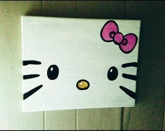 Hello Kitty Canvas plaque