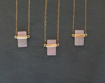 Rose Quartz  Jewelry / Open Heart Chakra / Rose Quartz Necklace / Rose Quartz Pendant / Crystal Necklace  / Gift for Her