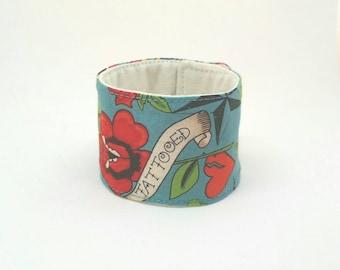 Cuff Bracelet Adjustable Fabric Bracelet Cotton Wristband Tattoo Jewelry