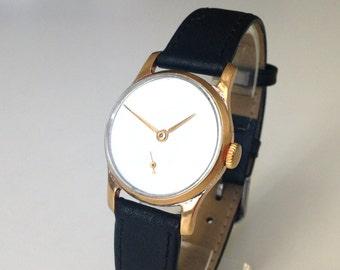 """Men's watch, minimalist watch, Russian watch, Soviet watch ,Vintage Watch ,Mens watch , White watch """"Victory"""""""