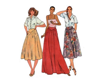 70s uncut Safari Skirt pattern Maxi Skirt pattern Gored Skirt pattern vintage 34-26.5-36 Banana Republic Style Skirt waist 26 Butterick 6461