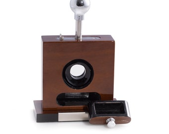 Personalized Cigar Cutter- Laccquered Walnut WoodTable Top Cigar Cutter