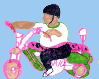 Postcard: Motorcycle Portrait 1