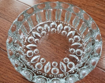 Vintage Clear Glass Ash Tray