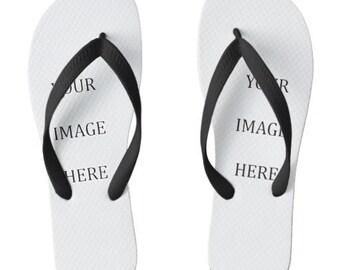 Custom Printed Flip Flops - Wide Strap
