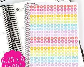 LS458 Spring Variety Mini Round Icon Stickers.  Perfect for the Erin Condren Life Planner!!!