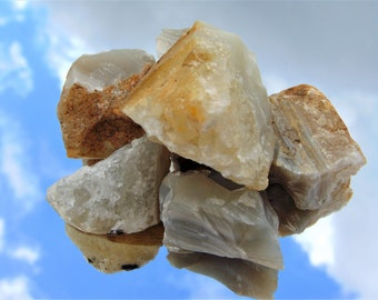 Natural Raw Rough Banded Agate Spiritual Healing Reiki All Chakra