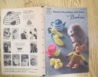 Bazaar Novelties and Gifts by Beehive / Patons Book 115 / accessory knit crochet patterns