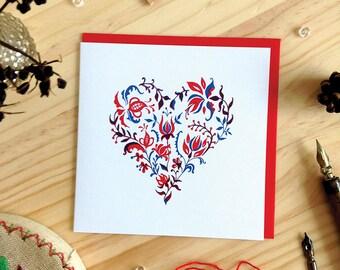 Foliage Heart Greeting Card