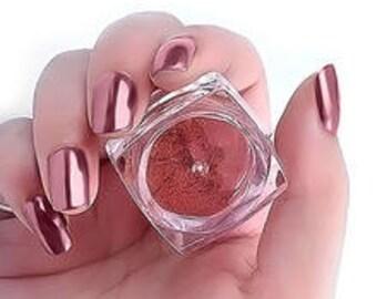 Rose Gold Chrome Mirror Powder - Nail Trend