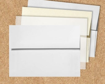 A7 Invitation Envelopes (5 1/4 x 7 1/4) - Pick A Color (50 Qty.)