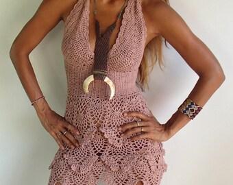 Crochet  Dress. Boho Dress Beach Dress /Festival Crochet dress/ Summer Dress 12 Colors