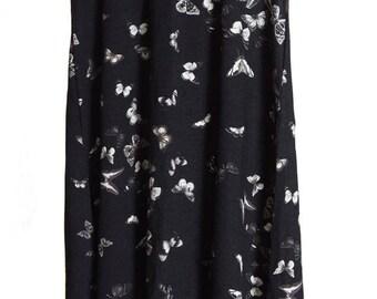 Black butterflies dress