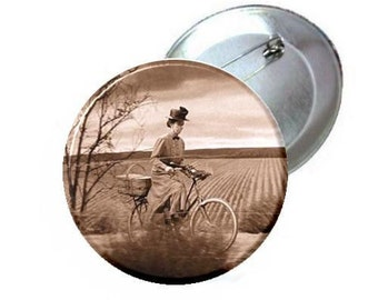 """1"""" 1.25"""" or 2.25"""" Pinback Button - Wizard of oz Wicked Witch -Gulch"""