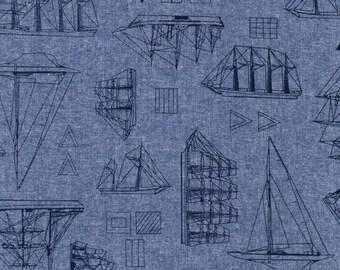 Nautique Chambray in Indigo by Robert Kaufman Fabrics