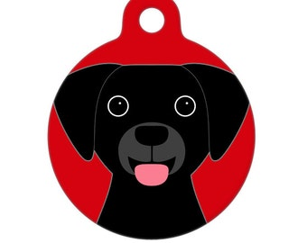 Pet ID Tag - Black Lab Pet Tag, Dog Tag