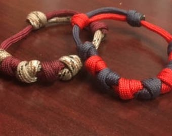 Paracord X Knot Adjustable Bracelet