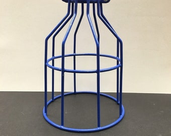 Steampunk Style Blue Bulb Guard Lamp Cage