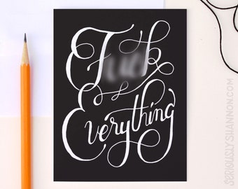 F*ck Everything Funny Friend Card, Sarcastic Card, Witty Greeting Card, Dark Humor Life Sucks Card, A2 greeting card