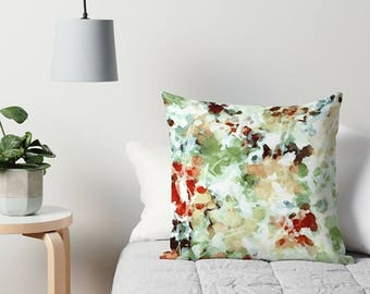 Watercolor Pillow, Pastel Throw Pillow, Abstract Art Pillow, Abstract Pillow, Art Pillow, Sofa Pillow, Accent Pillow, Pastel Art Pillow