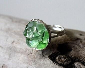 Sale 20% Rabais Sea glass ring, Seaglass ring, ocean ring, blue ring, white ring, green ring, nautical ring, sea glass, sea glass jewelry, m