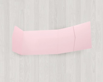 10 Panorama Pocket Enclosures - Pink - DIY Invitations - Invitation Enclosures for Weddings and Other Events