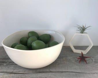 Large Square Top Porcelain Mixing Bowl