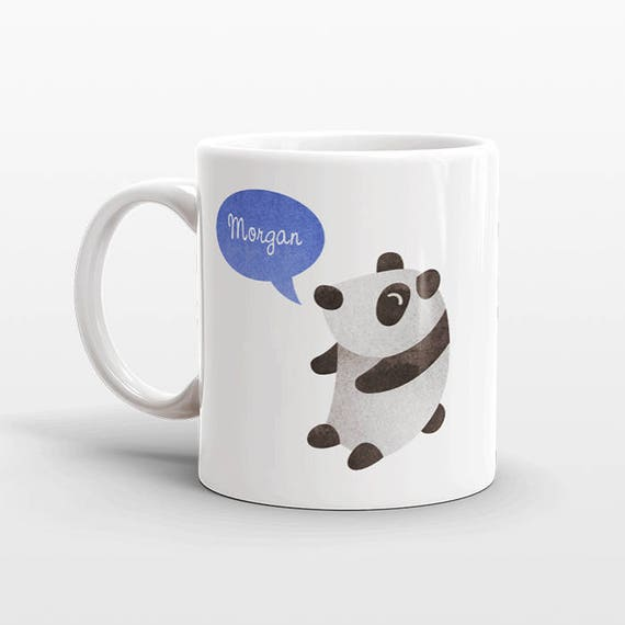 Custom Name Coffee Mug Panda Gift Idea for Women Men Her Him Mom Dad Adult Kid Panda Lover Best Friend Birthday Teacher Gift Personalized