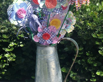 Origami Paper Flowers (bouquet of 12)