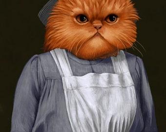 Mrs Patmore Persian Cat Portrait - Downton Abbey - 8x10 Signed Print
