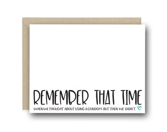 Funny Pregnancy Reveal Card for Husband - Remember That Time -  Funny Pregnancy Card, Pregnancy Announcement Card, Baby Daddy Card