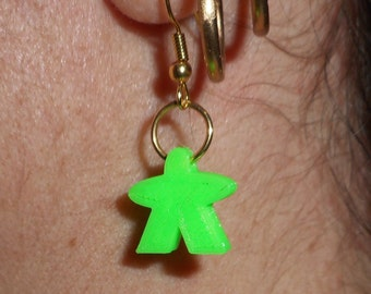 Meeple earrings pairs