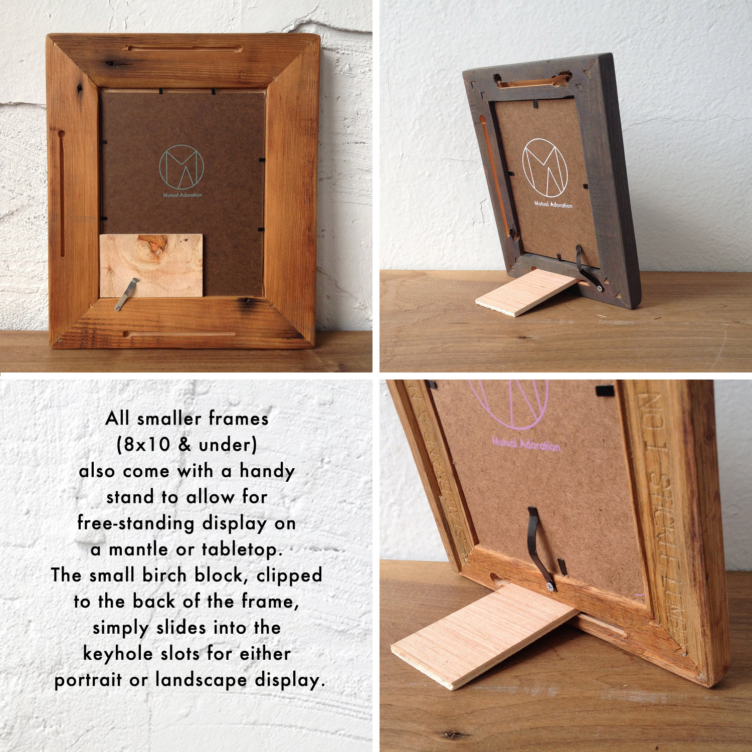 8x8 Picture Frame | Reclaimed Wood Frame | Square Photo Frame ...