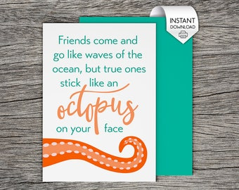 Best friend card printable card incredibly thankful for a best friend bff friends come and go like waves of the ocean printable m4hsunfo