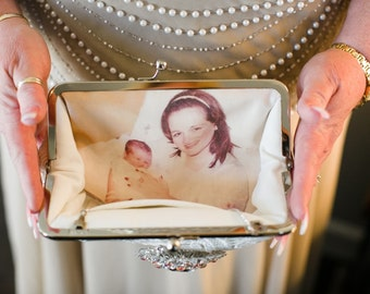 ANGEE W. Photo Clutch Bag with a Photo Lining - Personalized gift