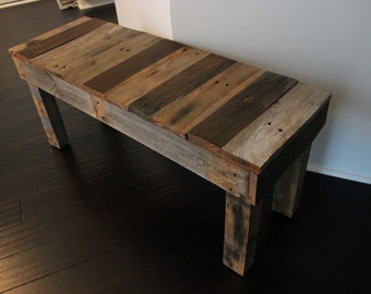 wood pallet furniture. Reclaimed Pallet Wood Bench Furniture