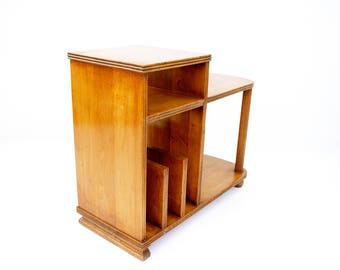 Art Deco Era Multi-Tiered Bookshelf Side Table Bookcase Record Stand || CUSTOM COLOR AVAILABLE