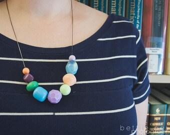 colored pencils - necklace - vintage lucite