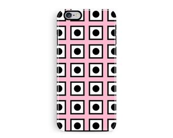 Grid Phone Case, iPhone 6 Plus Case, Grid iPhone 6 Case, iPhone 6S Cover, Pink iPhone Cases, Tough iPhone 6s Case, Tough Phone Cases