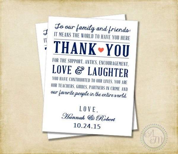 Thank You Message Wedding Gift: Wedding Thank You Note Welcome Bag Wedding Favor Hotel Gift