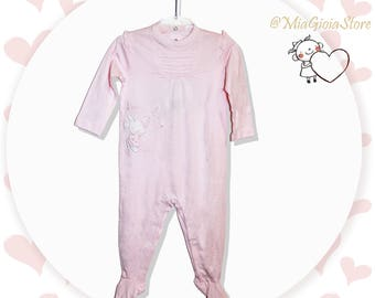 Chicco 74/12 month suit, light pink, baby girl clothes, baby gift, baby clothing, baby clothes