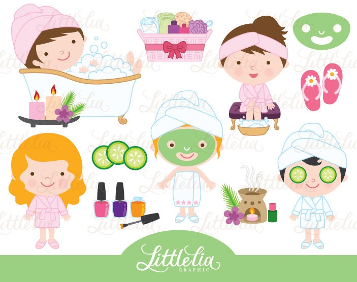 Wellness Beauty Behandlung Cliparts Clipart Schonheit