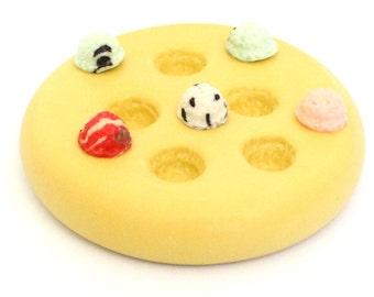 Ice cream scoop Mold   Clay     Cabochon Kawaii  Silicone Mold fondant mold resin mold