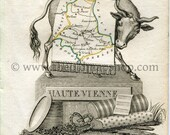1823 Perrot Map of Haute-...