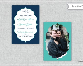 The Ashley Save the Date. Wedding Invitation. Formal Save the Date. Save the Date. Monogram Save the Date.