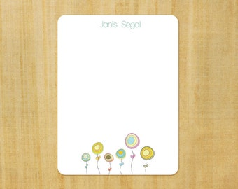 Stationery set of 8 PERSONALIZED Flower Show Note Cards