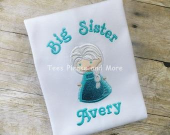 Frozen's Elsa Inspired Big Sister T-shirt